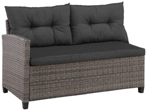 KONIFERA Loungeset Keros Premium Ecklounge 2 Hocker Sessel Tisch 145x75cm Polyrattan B46059830 UVP 799,99€ | 46059830 3