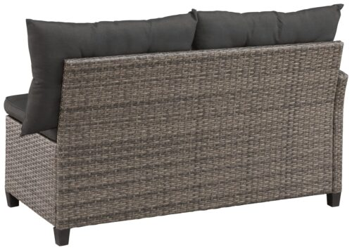 KONIFERA Loungeset Keros Premium Ecklounge 2 Hocker Sessel Tisch 145x75cm Polyrattan B46059830 UVP 799,99€ | 46059830 5jpg