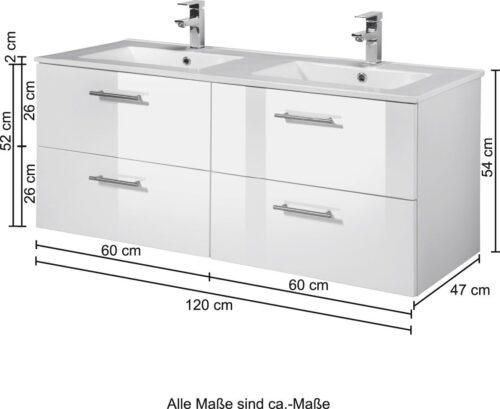 Doppelwaschtisch Trento Breite 120cm B47842612 UVP 499,99€ | 47842612 5