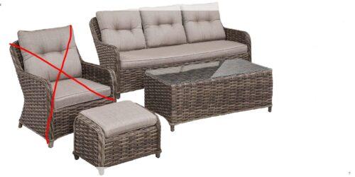 KONIFERA Loungeset Casablanca de luxe Sofa Tisch Hocker B48899868 | 48