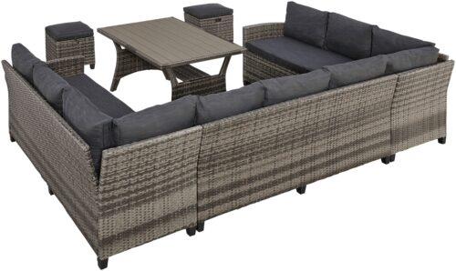 KONIFERA Loungeset Rotterdam (20-tlg) 3x Sofa 2 Hocker Tisch 12x82cm B48861444 ehemalige UVP 799,99€ | 48861444 2