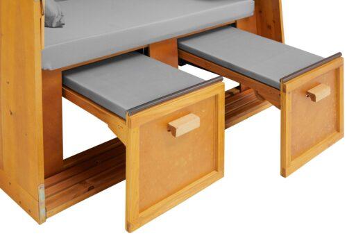DEVRIES Strandkorb Basic 2-Sitzer BxTxH:118x80x160cm B51037613 UVP 339,99€ | 51037613 5