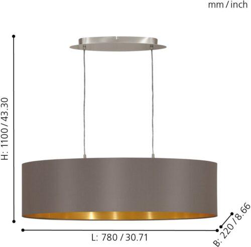 EGLO Pendelleuchte MASERLO Hängeleuchte Hängelampe B533027 UVP 125,00€   533027 4