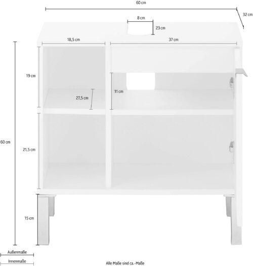 welltime Waschbeckenunterschrank Elis Breite 60cm B53332012 ehemalige UVP 119,99€ | 53332012 4