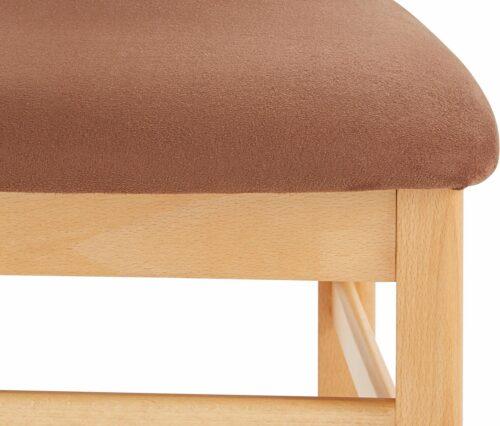 DELAVITA 4-Fußstuhl Franz (Set 2 Stück) Bezug aus strapazierfähiger Microfaser Gestell Buche Massivholz lackiert B533469 UVP 129,99€   533469 5