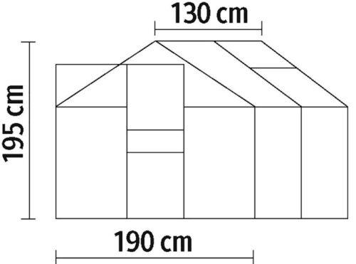 KONIFERA Gewächshaus Florenz BxTxH:190x130x195cm B53600406 UVP 199,99€ | 53600406 9