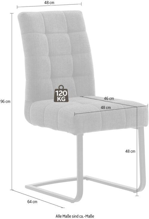 MCA furniture Freischwinger Salta (Set 2 Stück) mit Aqua Clean Bezug B53654031 UVP 519,00€ | 53654031 3
