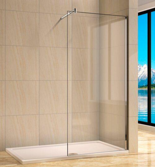 welltime Walk-in-Dusche Rom Einscheibensicherheitsglas B 90cm Duschabtrennung B53872832 ehemalige UVP 199,99€ | 53872832 1