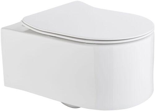 welltime Tiefspül-WC Trento Toilette spülrandlos inkl. WC-Sitz mit Softclose B54007642 ehemalige UVP 209,99€ | 54007642 1
