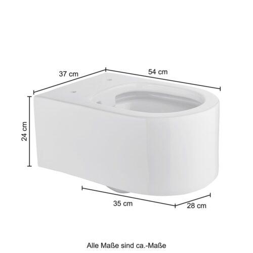 welltime Tiefspül-WC Trento Toilette spülrandlos inkl. WC-Sitz mit Softclose B54007642 ehemalige UVP 209,99€ | 54007642 10