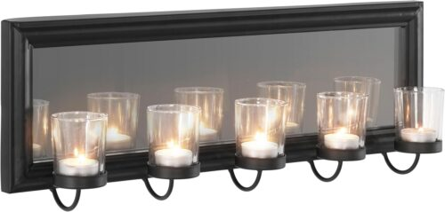 Home affaire Mirrow Kerzenhalter Kerzenleuchter Wanddeko mit Teelichthalter und Spiegel B5461794 UVP 50,99€   54617943 1