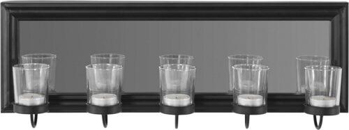 Home affaire Mirrow Kerzenhalter Kerzenleuchter Wanddeko mit Teelichthalter und Spiegel B5461794 UVP 50,99€   54617943 2