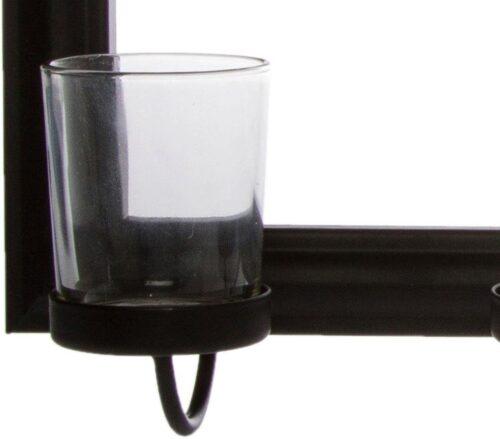 Home affaire Mirrow Kerzenhalter Kerzenleuchter Wanddeko mit Teelichthalter und Spiegel B5461794 UVP 50,99€   54617943 5