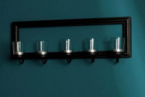 Home affaire Mirrow Kerzenhalter Kerzenleuchter Wanddeko mit Teelichthalter und Spiegel B5461794 UVP 50,99€   54617943 6