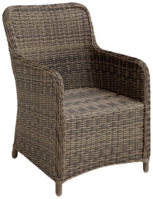 KONIFERA Gartenstühle Kenya 2 Sessel Polyrattan/Akazie ohne Polster B37809946OP | 54828942op