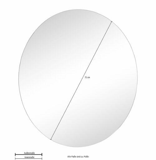 borchardt Möbel Spiegel Panama rund B63045947 ehemalige UVP 69,99€ | 63045947 5