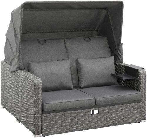 KONIFERA Loungebett Sylt 8 Teile Sofa Hängetisch mit klappbarem Dach B63412811 UVP 999,99€ | 63412811 1