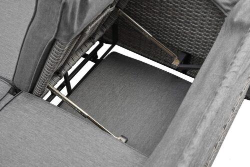 KONIFERA Loungebett Sylt 8 Teile Sofa Hängetisch mit klappbarem Dach B63412811 UVP 999,99€ | 63412811 11