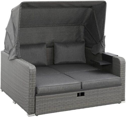 KONIFERA Loungebett Sylt 8 Teile Sofa Hängetisch mit klappbarem Dach B63412811 UVP 999,99€ | 63412811 2