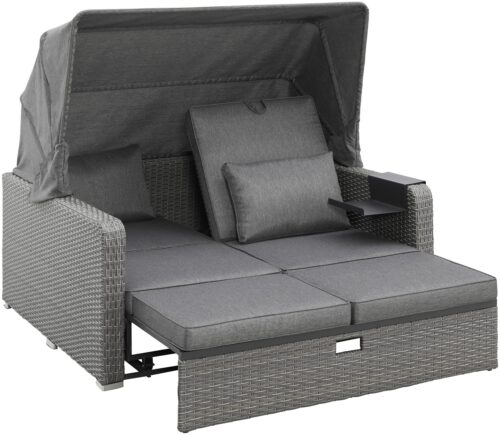 KONIFERA Loungebett Sylt 8 Teile Sofa Hängetisch mit klappbarem Dach B63412811 UVP 999,99€ | 63412811 3