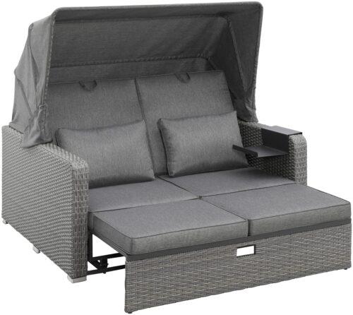 KONIFERA Loungebett Sylt 8 Teile Sofa Hängetisch mit klappbarem Dach B63412811 UVP 999,99€ | 63412811 4