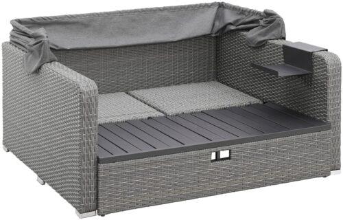 KONIFERA Loungebett Sylt 8 Teile Sofa Hängetisch mit klappbarem Dach B63412811 UVP 999,99€ | 63412811 5