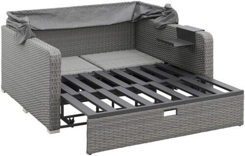 KONIFERA Loungebett Sylt 8 Teile Sofa Hängetisch mit klappbarem Dach B63412811 UVP 999,99€ | 63412811 6