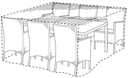 garten gut Schutzplane Madrid für Gartenmöbelset 160x200x111cm B64382762 UVP 59,99€ | 64382762 2