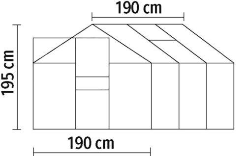 KONIFERA Gewächshaus Florenz BxTxH:190x190x195cm Wandstärke 4mm B64916760 ehemalige UVP 249,99€ | 64916760 8