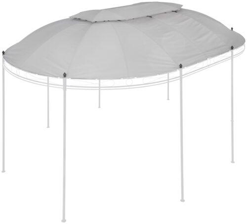 KONIFERA Ersatzdach für Pavillon Oval BxL:350x500cm grau B65282451 UVP 89,99€ | 65282451 1