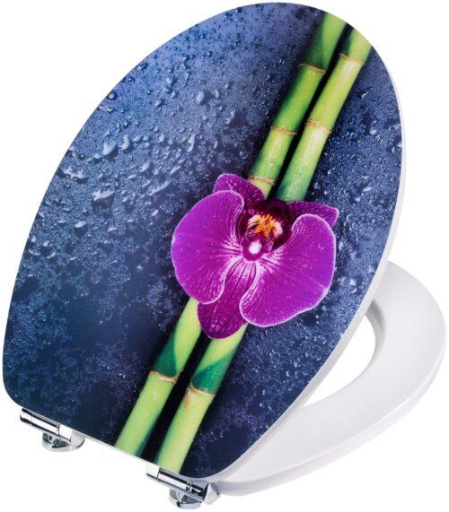 WC-Sitz Orchidee lila Bambus MDF Toilettensitz Absenkautomatik B66207150 UVP 59,99€ | 66207150 4