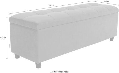 COUCH♥ Bettbank Abgesteppt Mit Stauraum auch als Garderobenbank geeignet Polsterbank B66659536 UVP 159,99€   66659536 4
