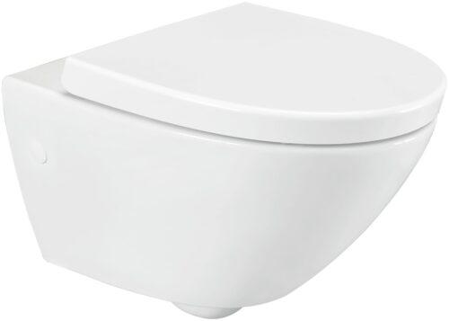 welltime Flachspül-WC Spring Toilette spülrandlos inkl. WC-Sitz mit Softclose B67814504 ehemalige UVP 189,99€ | 67814504 1