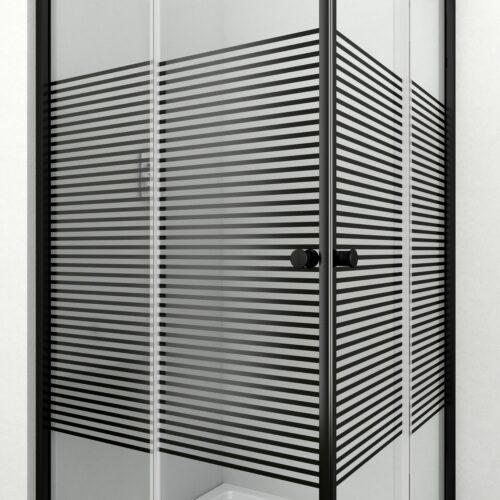 WELLTIME Eckdusche Trento Black verstellbar 80-90cm Duschkabine BxT:90x90cm B71086849 ehemalige UVP 219,99€ | 71086849 7