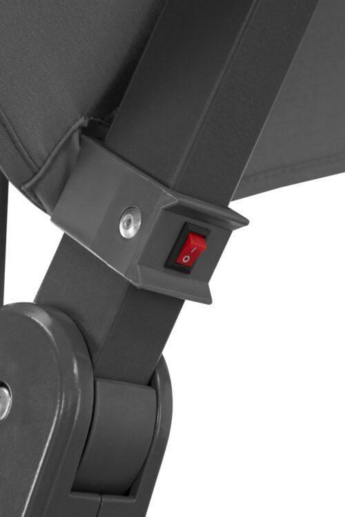 garten gut Ampelschirm Paris LxB:270x270cm Solarbetriebener LED Beleuchtung B72877260 UVP 299,99€ | 72877260 7