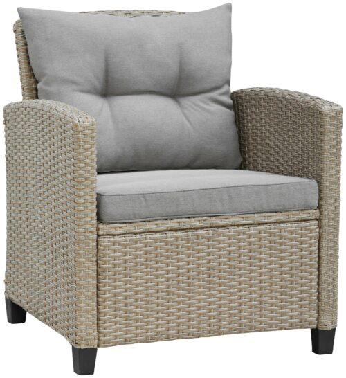 KONIFERA Loungeset Lorca 2er Sofa 2 Sessel Tisch 90x55cm 2 Hocker inkl. Auflagen B73765359 ehemalige UVP 499,99€ | 73765359 6