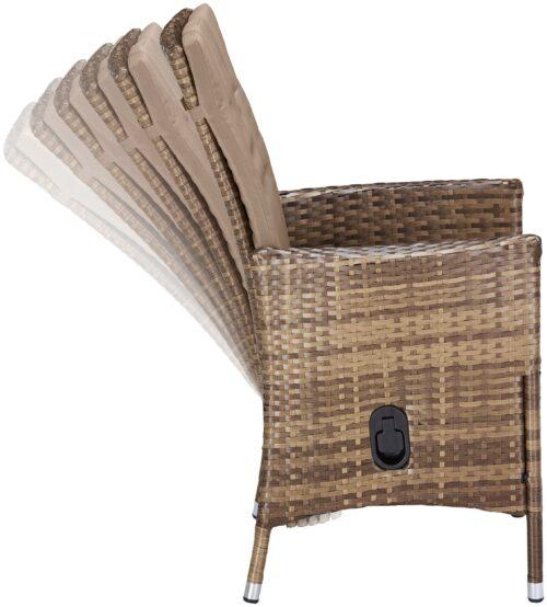 KONIFERA Stuhlset Santiago Deluxe 6 Sessel Polyrattan B74702315OT | 74702315 6