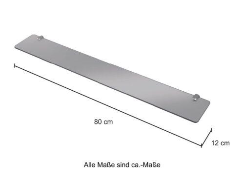 WELLTIME Wandablage Glasregal/ Glasablage Breite 80cm B79349909 ehemalige UVP 34,99€   79349909 4