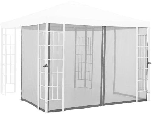 Konifera Moskitonetz-Seitenteile für Pavillon Alu hellgrau B82025243 UVP 49,99€ | 82025243 1