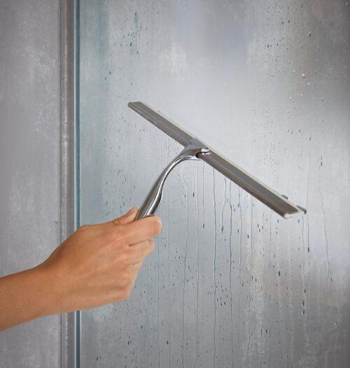 welltime Duschabzieher 40cm breit mit Gummilippe inkl. Haken B82695765 UVP 29,99€ | 82695765 3