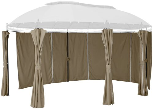 KONIFERA Pavillonseitenteile Oval beige mit 6 Seitenteilen für Pavillongröße 3,5x5m B82893521 UVP 129,99€   82893521 1