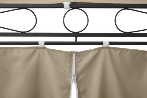 KONIFERA Pavillonseitenteile Oval beige mit 6 Seitenteilen für Pavillongröße 3,5x5m B82893521 UVP 129,99€   82893521 5