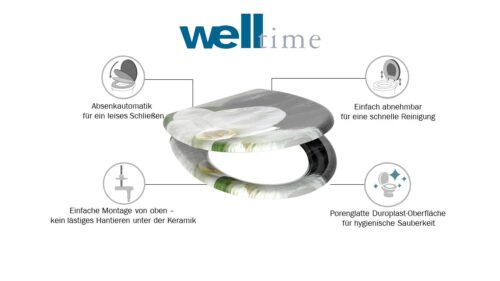 welltime WC-Sitz White Flower mit Absenkautomatik abnehmbar B84340569 ehemalige UVP 49,99€   84340569 6