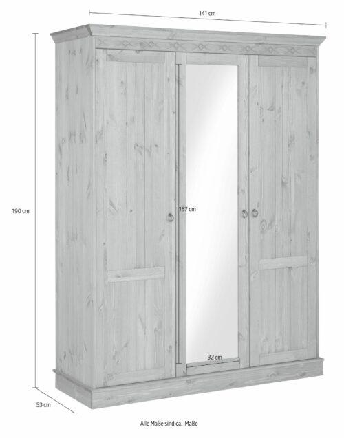 Home affaire Drehtürenschrank Indra 141cmx190cmx53cm dekorativen Fräsungen B846949 UVP 549,99€ | 846949 7