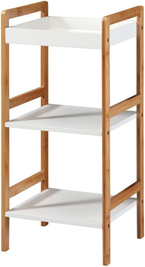 Phoenix Badregal Packung Ablage weiß lackiertem MDF Beine aus robusten Bambus B86480266 UVP 79,99€ | 86480266 1