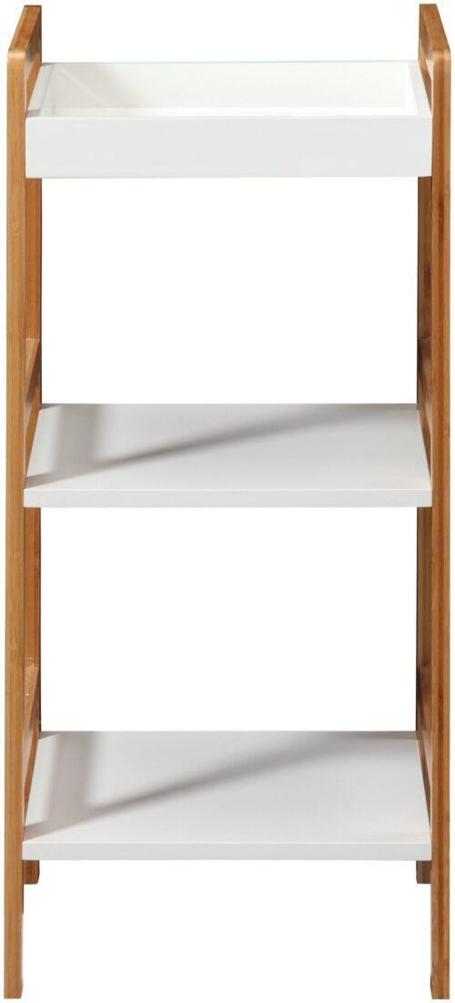 Phoenix Badregal Packung Ablage weiß lackiertem MDF Beine aus robusten Bambus B86480266 UVP 79,99€ | 86480266 2