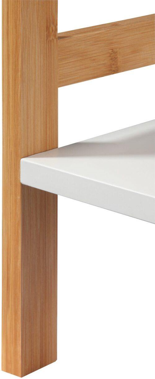 Phoenix Badregal Packung Ablage weiß lackiertem MDF Beine aus robusten Bambus B86480266 UVP 79,99€ | 86480266 3