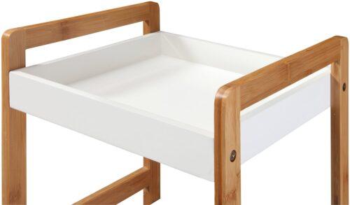Phoenix Badregal Packung Ablage weiß lackiertem MDF Beine aus robusten Bambus B86480266 UVP 79,99€ | 86480266 4
