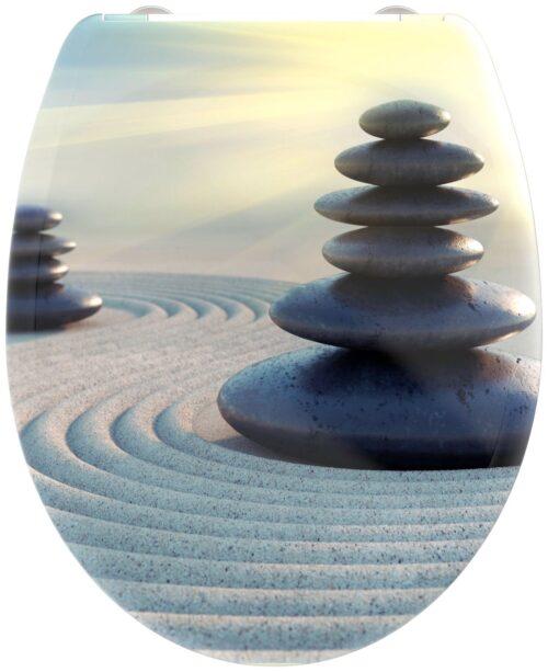 welltime WC-Sitz Zen Stones mit Absenkautomatik abnehmbar B88099755 ehemalige UVP 49,99€ | 88099755 2