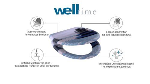 welltime WC-Sitz Zen Stones mit Absenkautomatik abnehmbar B88099755 ehemalige UVP 49,99€ | 88099755 6